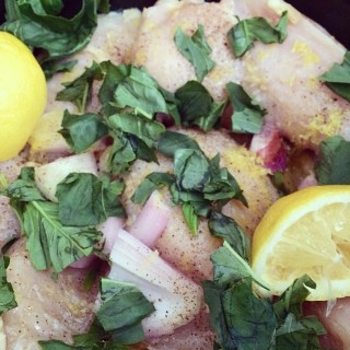 Slow Cooker Lemon Basil Chicken
