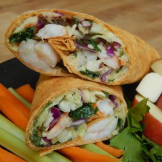 Diane's Shrimp, Citrus & Spicy Hummus Wrap~ Toufayan Bakery