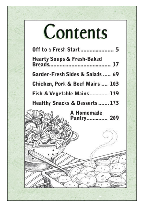 Gooseberry Patch Table of Contents