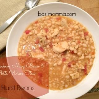 Chicken, Hurst Navy Bean and White Wine Stew