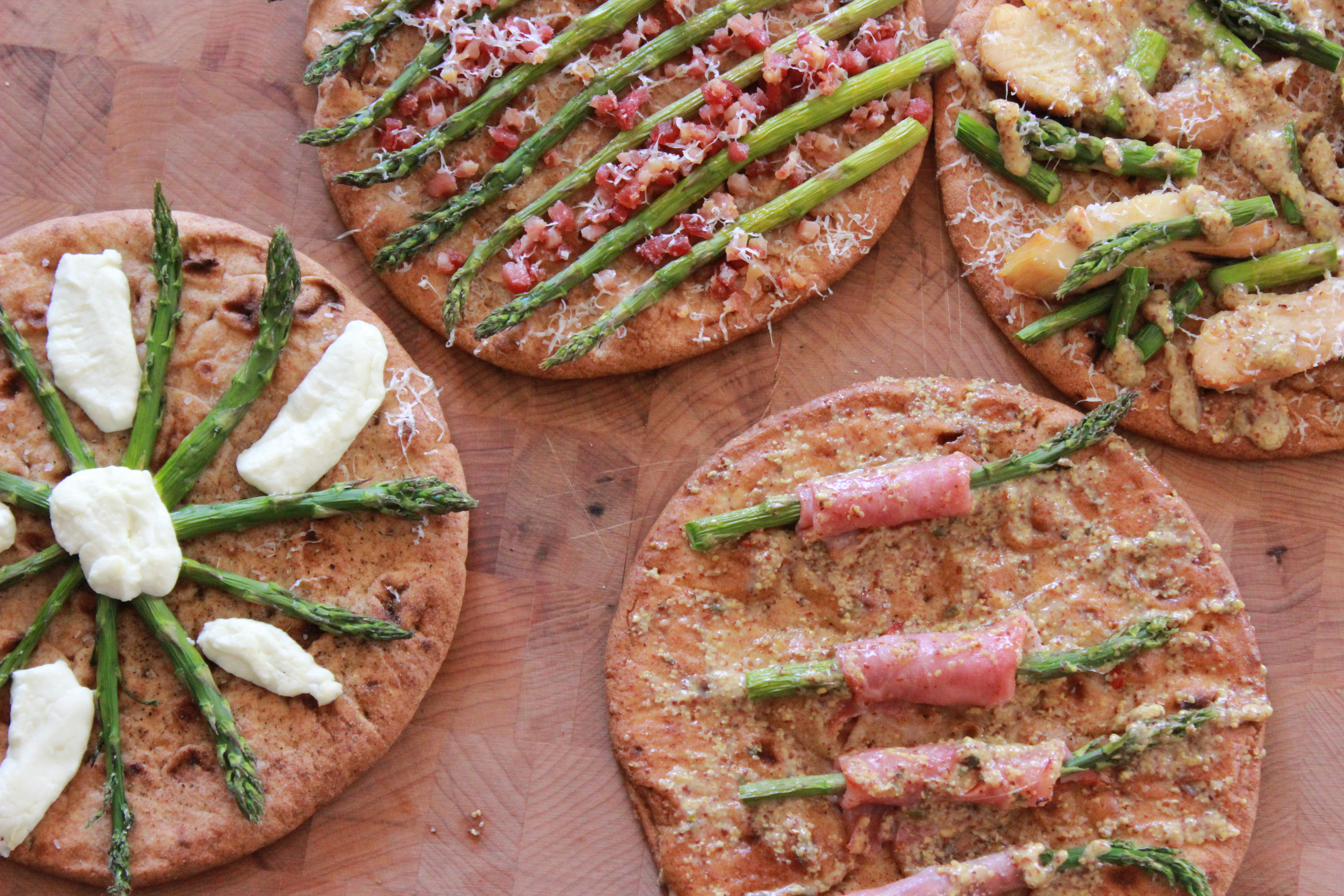 Spring Asparagus Recipes made with Toufayan Bakeries Flabreads