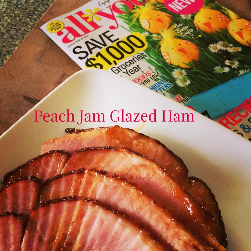 Peach Jam Glazed Ham #Basilmomma