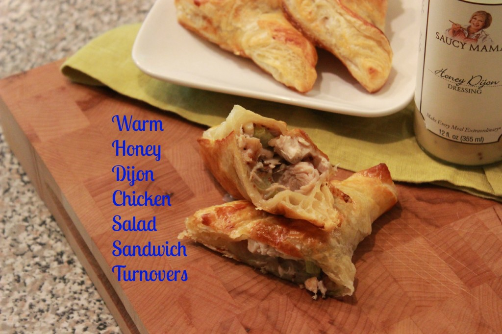 Warm Honey Dijon Chicken Salad Sandwich Turnovers