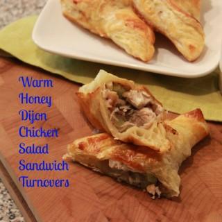 A Saucy Mama Recipe: Warm Honey Dijon Chicken Salad Sandwich Turnovers
