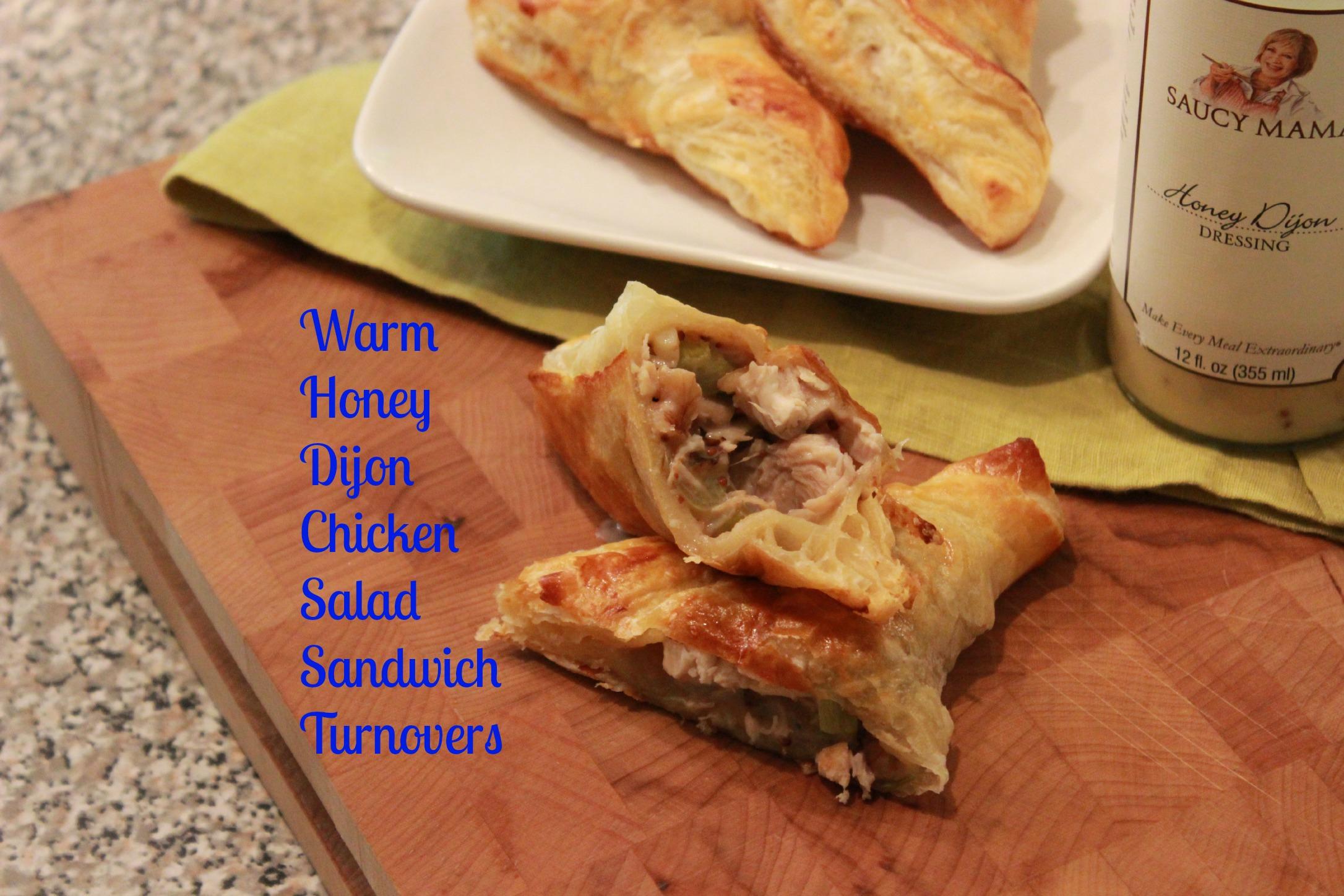 Warm Honey Dijon Chicken Salad Sandwich Turnovers