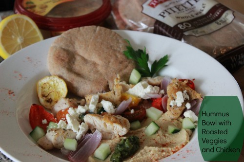 Sabra Hummus Bowl with Chicken, Feta and Roasted Veggies