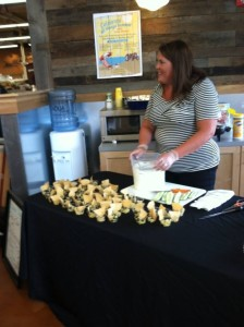 Making easy summer recipes at the Fresh Thyme Farmers Market in Greenwood, Indiana