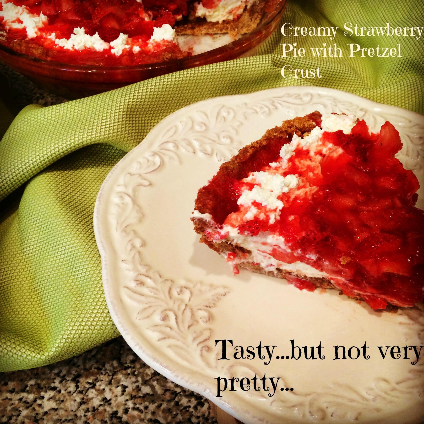 Creamy Strawberry Pie With Pretzel Crust