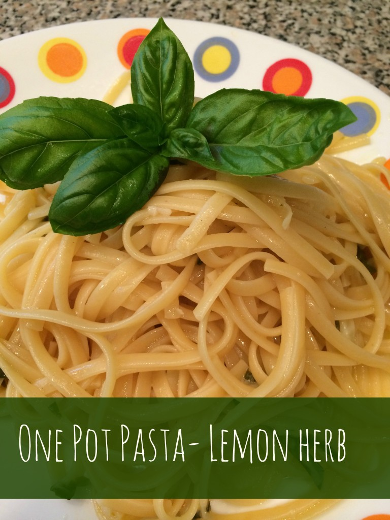 One Pot Lemon-Herb Pasta Recipe