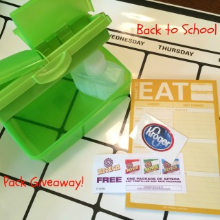 Back to School Lunch Organization- Giveaway!