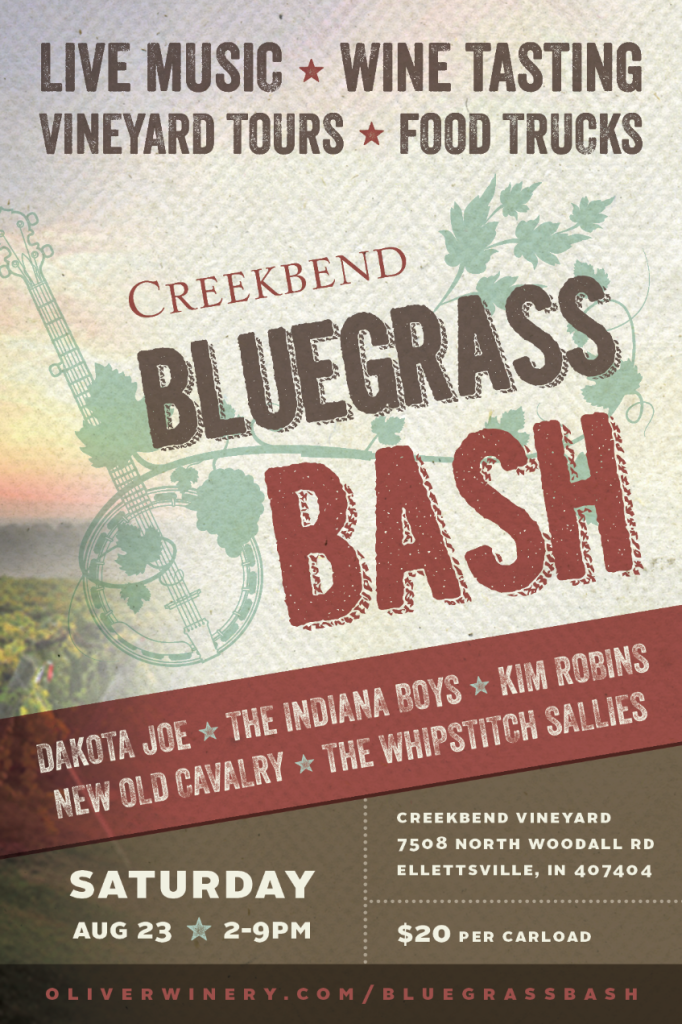 oliver winery bluegrass bash