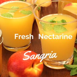 Fresh Nectarine Sangria