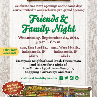 Fresh Thyme Farmers Market Opens 2 NEW Locations in Indianapolis!