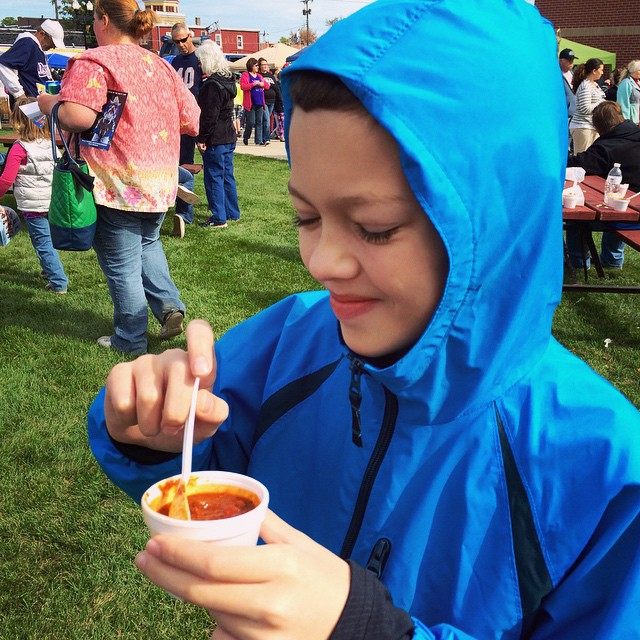 Jacob wanted to try the HOT one! @redgoldtomatoes #RedGoldTomatoes