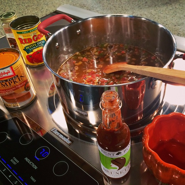 Coming up: black bean #pumpkin chili  @Indystyle @indystyleprod #foodtv #indy