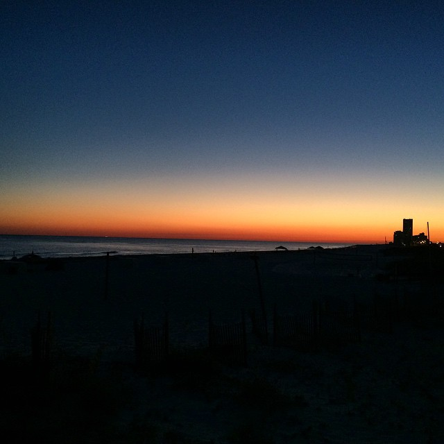 No filter necessary. The last sunset here with @talllumberjack @docta.tallman and @matttallman #gulfshores