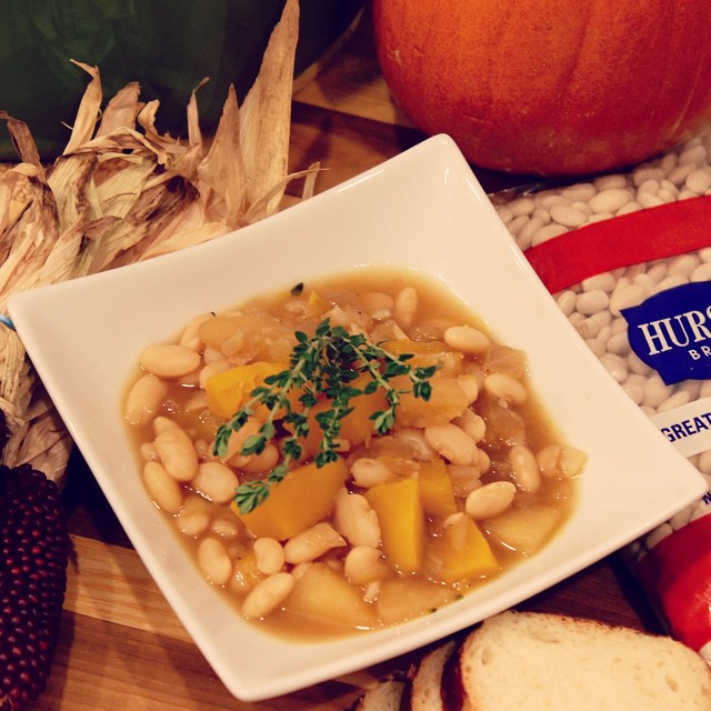 Pumpkin, @hurstbeans great northern bean and apples. Would make a great base for roast pork or pork belly. Post tomorrow! #client
