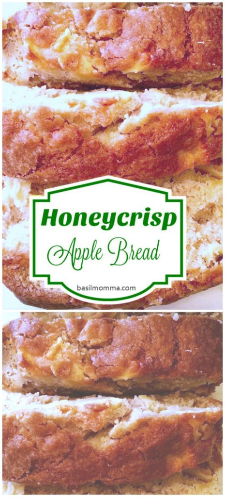 Honeycrisp Apple Bread - This quick bread recipe is a taste of fall! See it on basilmomma.com