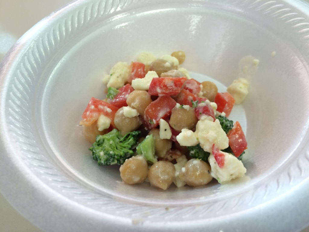 Broccoli Salad with Chickpeas and Feta