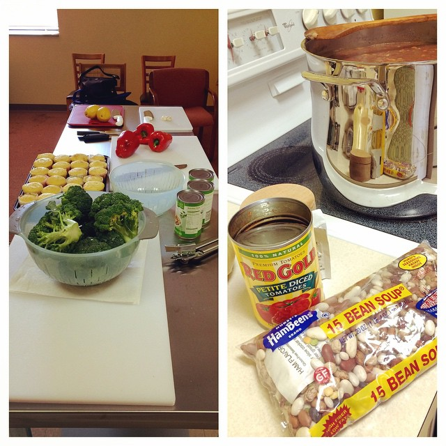 All set up and ready for class at @littlereddoor ! @hurstbeans @redgoldtomatoes #DoortoWellness