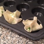 Spinach and Feta Wonton Cups