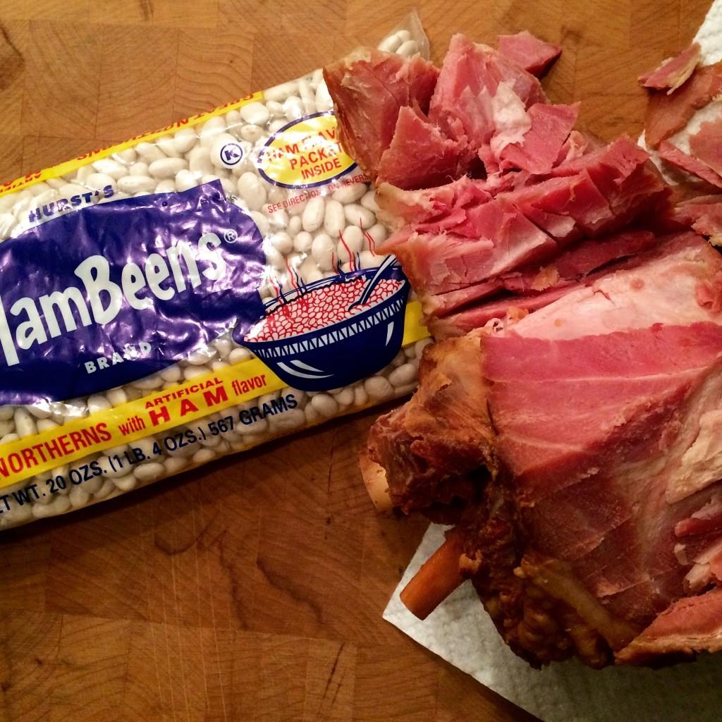 White Beans and Leftover Ham