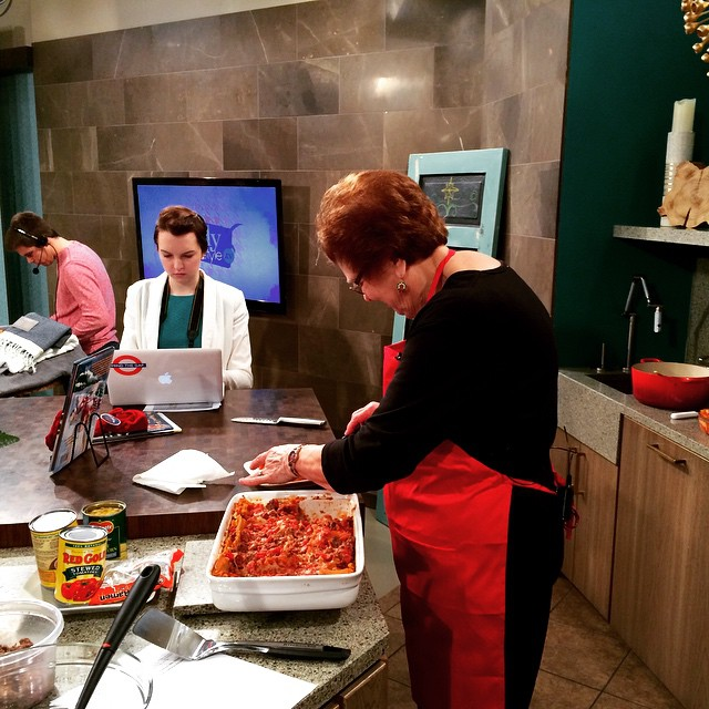 So excited to cook with Linda of @redgoldtomatoes on @indystyleproducer @indystyle #foodtv #RedGoldRecipes #Lasagna