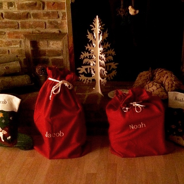 Santa made special deliveries overnight but like every year- we have to wake the boys up to tell them. #Sleepy