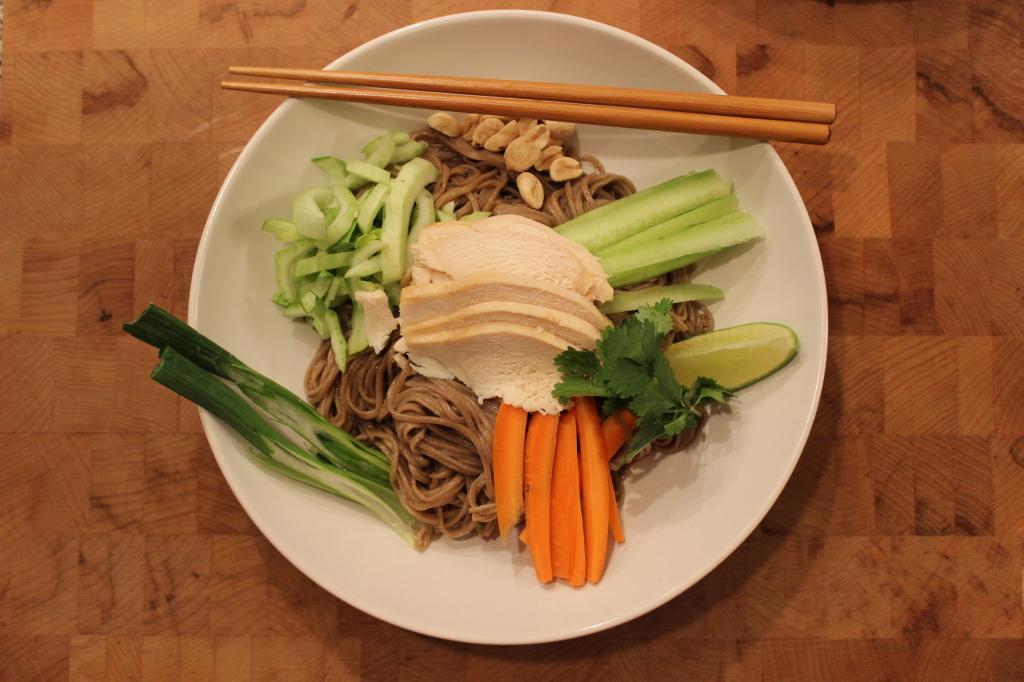 Coconut Chicken Over Ginger Soy Soba Noodles - Basilmomma