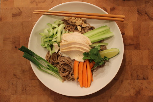 Coconut Chicken Over Ginger Soy Soba Noodles - This dinner recipe ...