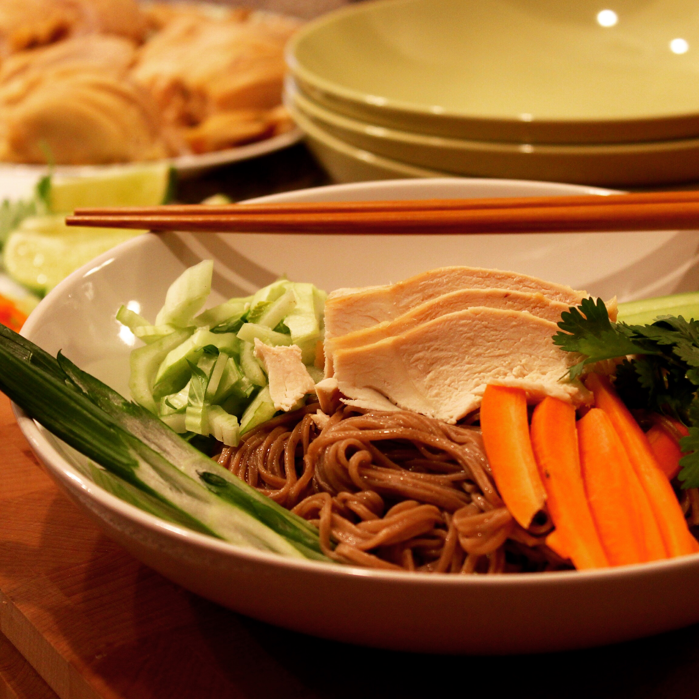 Coconut Chicken Over Ginger Soy Soba Noodles -Why get carry out when ...
