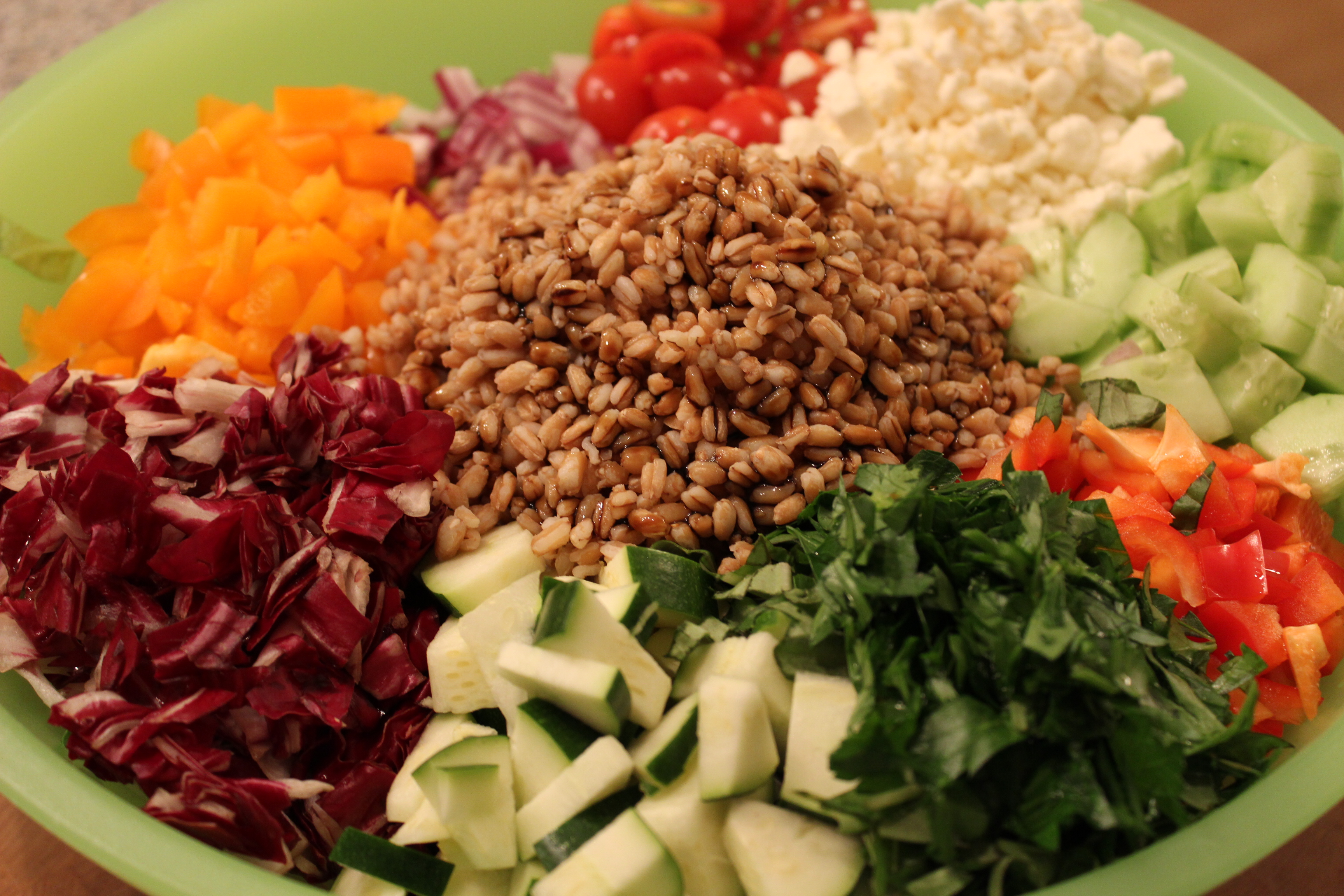 Farro Chopped Salad -One salad that can even be considered a meal ...