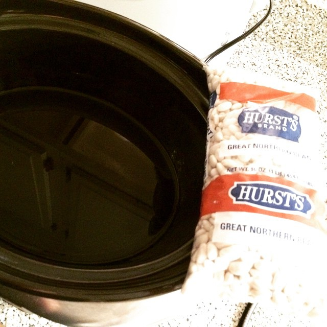@hurstbeans going in for the #SlowCooker soak #gamedayfood #Gamedayeats #beans