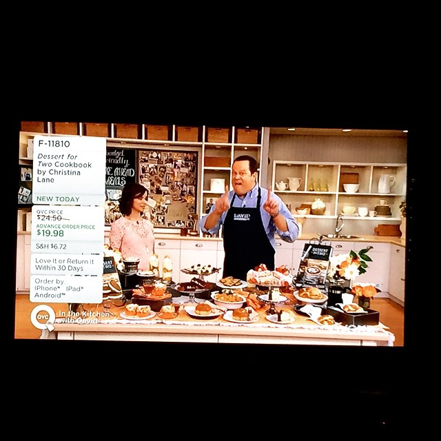 Love watching my friend and cookbook author Christina Lane of @dessertfortwo on @QVC @davidvenableqvc #qvc #dessertfortwo