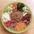 Healthy Farro Chopped Salad Recipe, from basilmomma.com