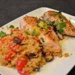 One Skillet Mediterranean Chicken @Basilmomma Skillet Meal