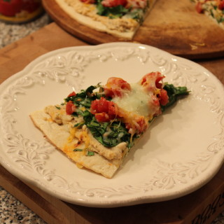 White Bean and Spinach Pizza- a Door to Wellness Recipe