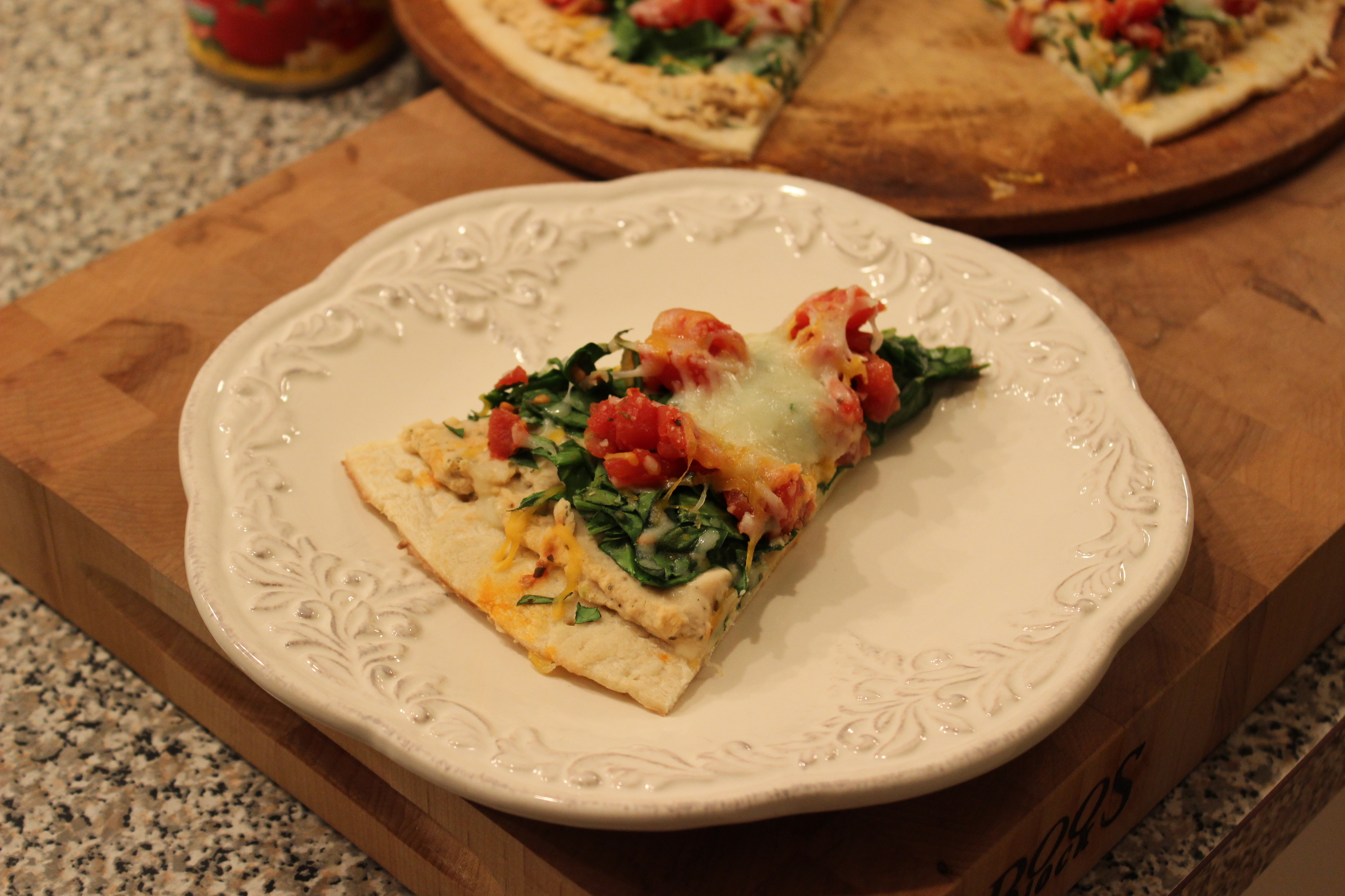 White Bean and Spinach Pizza- a Little Red Door Cancer Agency Door to Wellness Recipe
