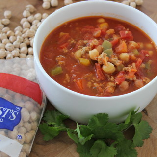 Turkey Chickpea Chili Featuring Hurst's Beans Garbanzos {no soak recipe}