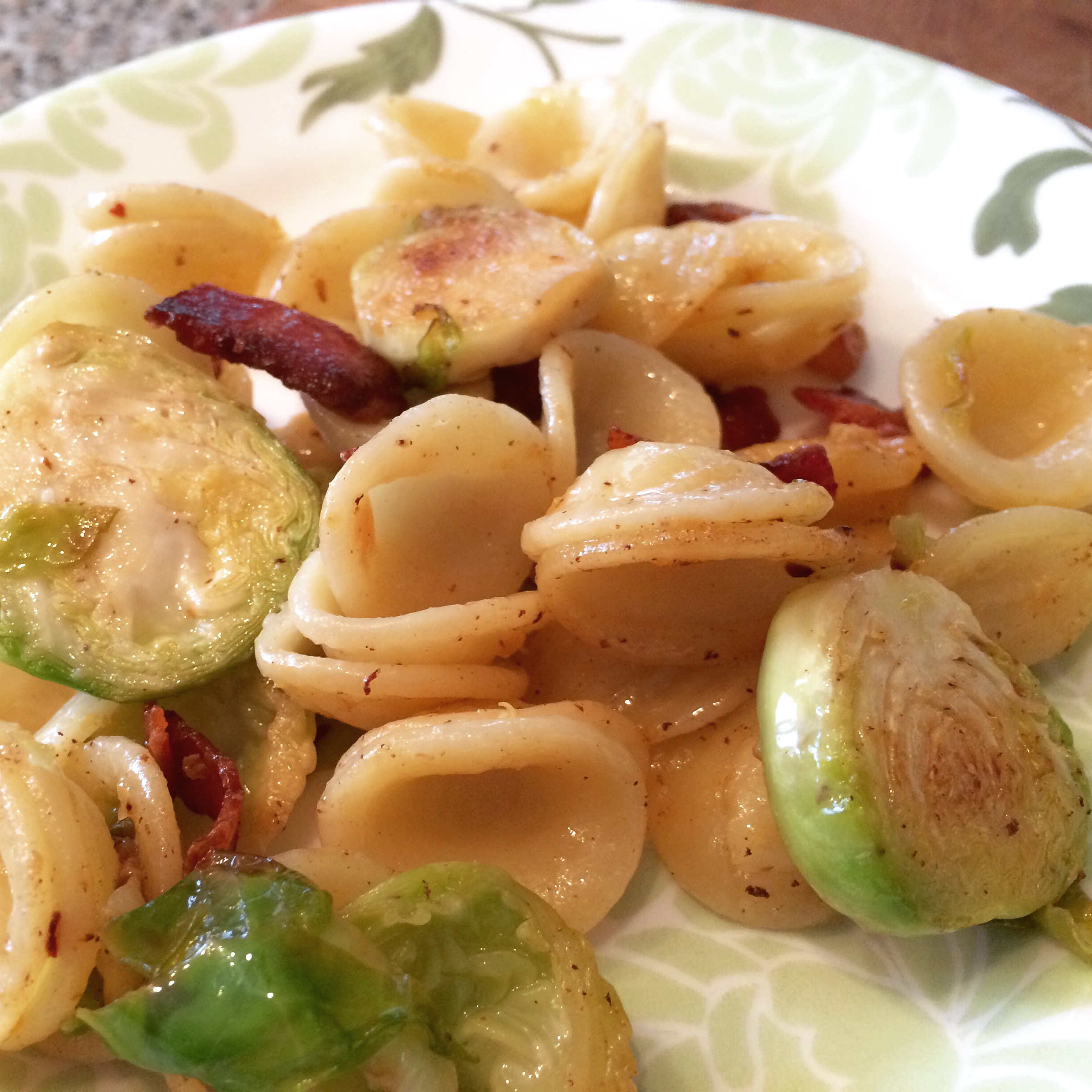 Vegetables, Pasta with Bacon, Shredded Brussels Sprouts, and Lemon ...
