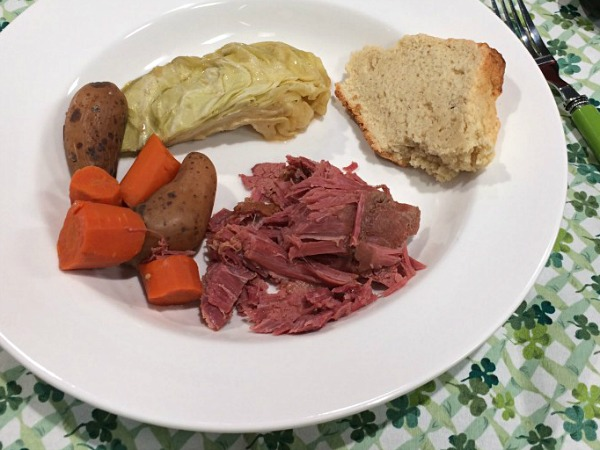 Slow Cooker Corned Beef with Cabbage | recipe on basilmomma.com