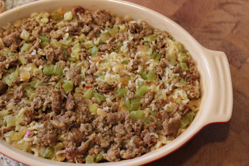 Sausage and Rice Casserole Recipe - Perfect for brunch, as an easy side dish, or even as a main meal. - Get the recipe on basilmomma.com