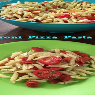 Pepperoni Pizza Pasta Salad as Seen on IndyStyle {Kids in the Kitchen} FB