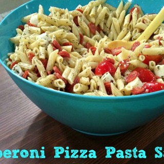 Pepperoni Pizza Pasta Salad as Seen on IndyStyle {Kids in the Kitchen}