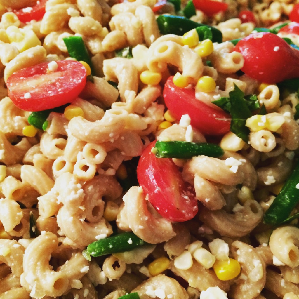 Healthy Veggie Pasta Salad - Get the recipe from basilmomma.com