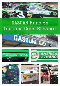 NASCAR runs on ethanol made from Indiana Corn