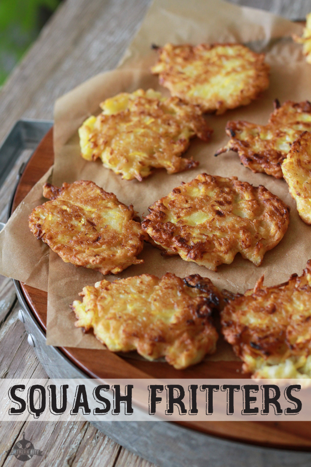 Yellow Squash Fritters from @southernbite -  One of the healthy summer squash recipes being featured on Basilmomma.com