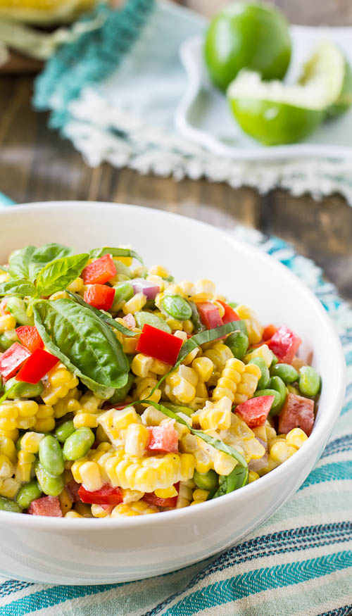 Roasted Sweet Corn and Edamame Salad Recipe