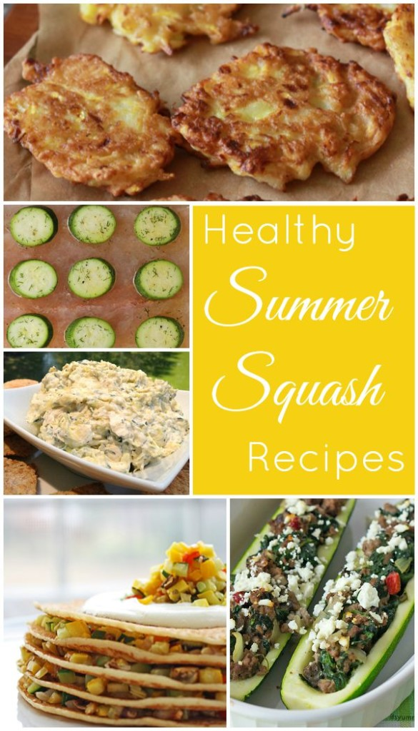 Healthy Summer Squash Recipes Collection - Go to basilmomma.com and get some delicious and healthy recipes to help you use your garden yellow squash and zucchini