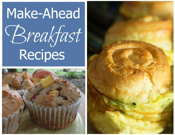 Make-Ahead Breakfast Recipes - All of these delicious breakfast recipes can be made ahead of time for grab-n-go mornings.